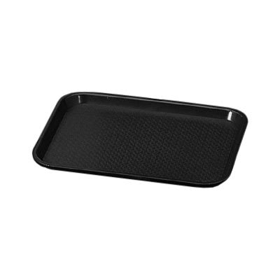 "Vollrath 86118 Fast Food Tray - 12x16"" Black Poly"