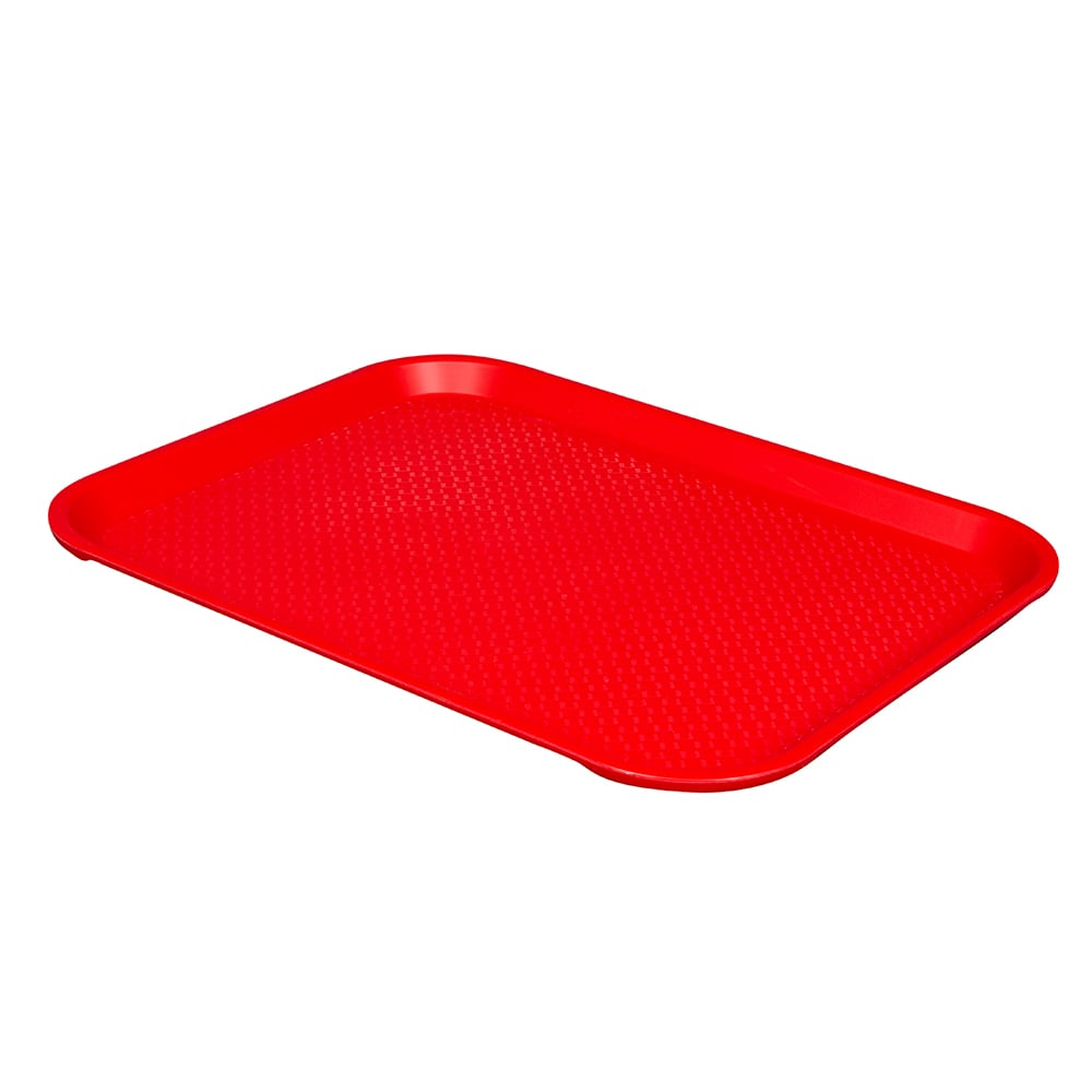 "Vollrath 86120 Fast Food Tray - 14x18"" Red Poly"