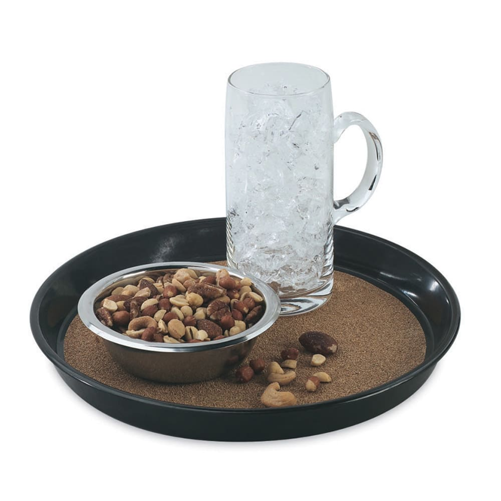 "Vollrath 86338 12 1/2"" Round Cork-Lined Beer Tray - Brown"
