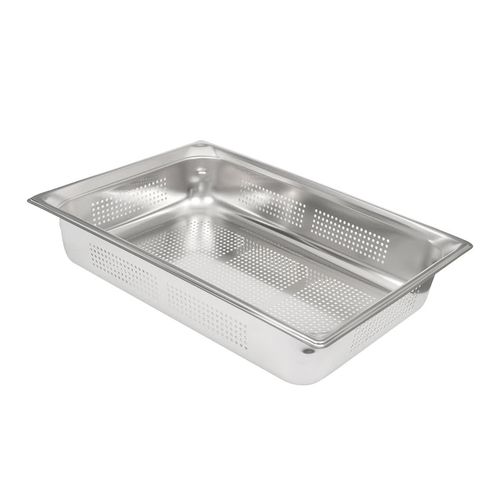 Vollrath 90043 Super Pan 3 Full-Size Perforated Steam Pan, Stainless