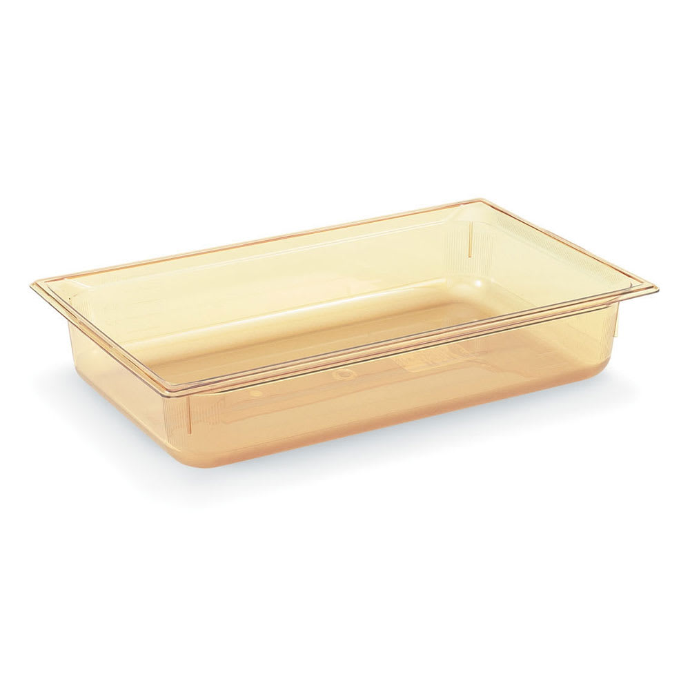 "Vollrath 9004410 Full-Size Hot Food Pan - 4"" Deep, Amber"