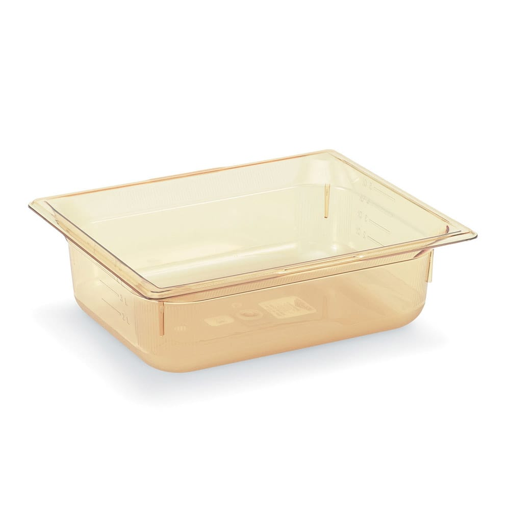 "Vollrath 9024410 Half-Size Hot Food Pan - 4"" Deep, Amber"