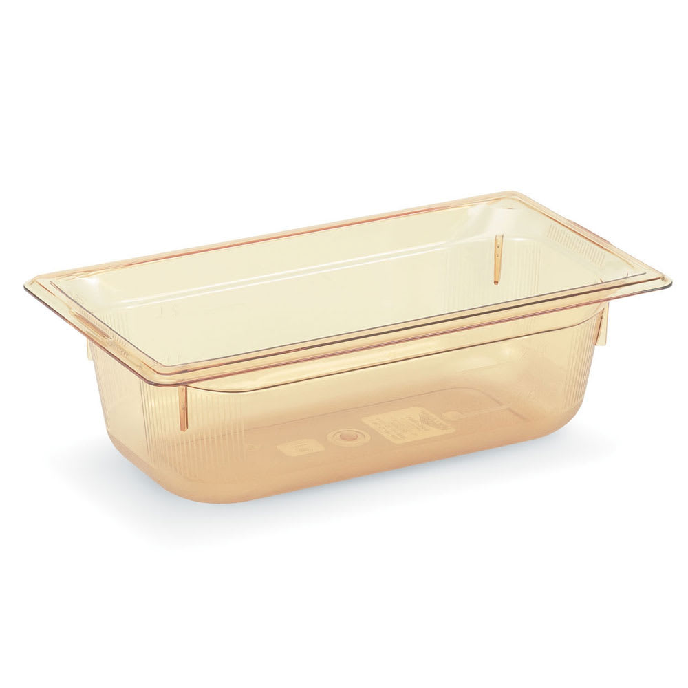 "Vollrath 9034410 1/3 Size Hot Food Pan - 4"" Deep, Amber"