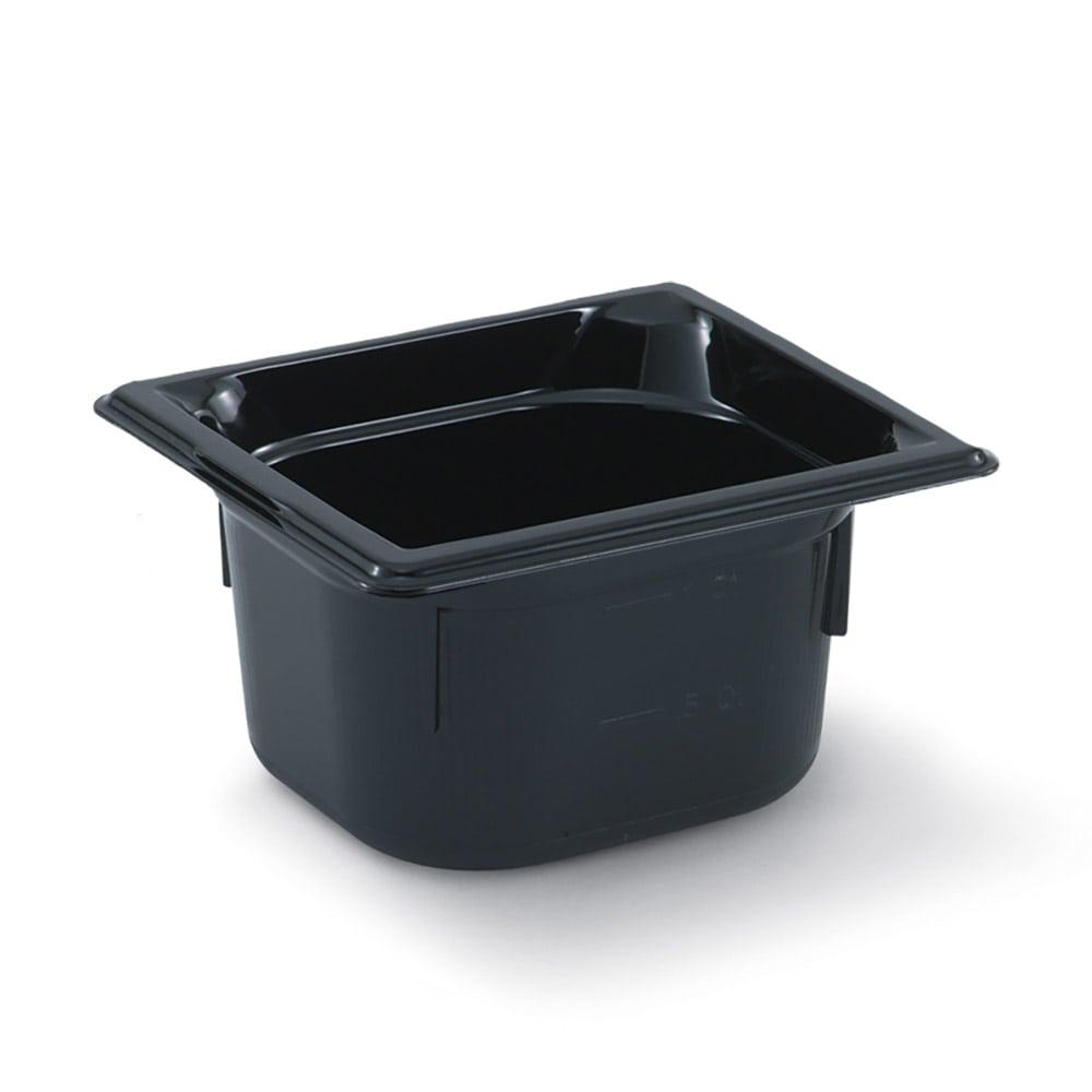 "Vollrath 9064420 1/6 Size Hot Food Pan - 4"" Deep, Black"
