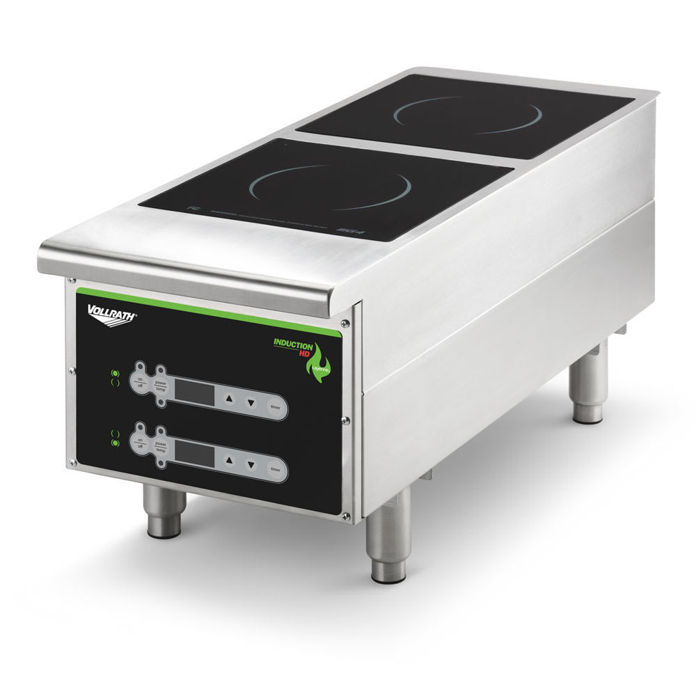 Vollrath 912HIDC Countertop Commercial Induction Cooktop w/ (2) Burners, 208-240v/1ph