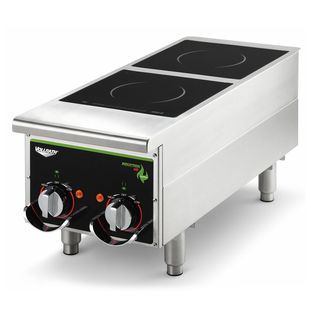 Vollrath 912HIMC Countertop Commercial Induction Cooktop w/ (2) Burners, 208 240v/1ph
