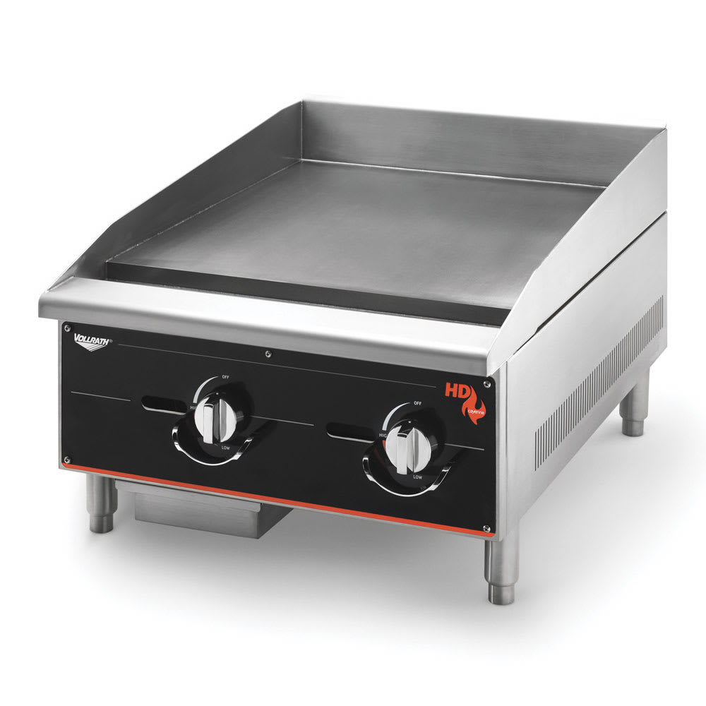"Vollrath 924GGM 24"" Gas Griddle - Manual, 1""  Plate, LP"