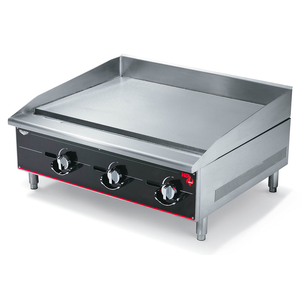 "Vollrath 936GGM 36"" Gas Griddle - Manual, 1"" Steel Plate, NG"