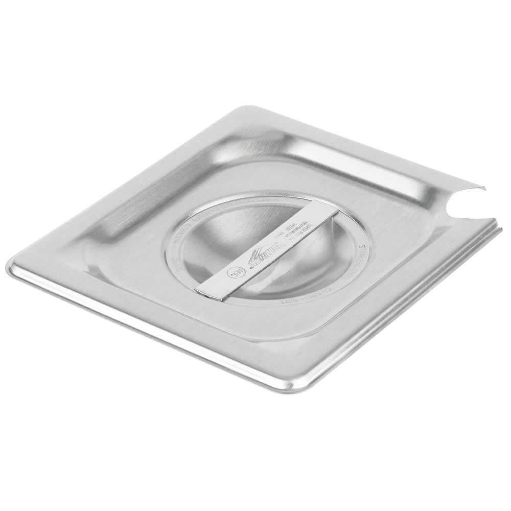 Vollrath 94600 Sixth-Size Steam Pan Slotted Cover, Stainless