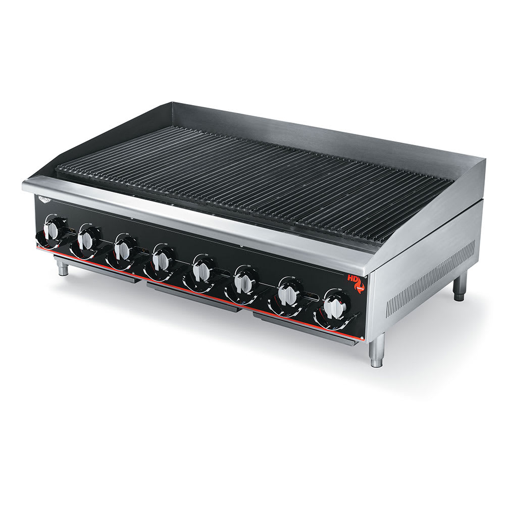 "Vollrath 948CG 48"" Gas Charbroiler w/ Cast Iron Grates - Manual Controls"
