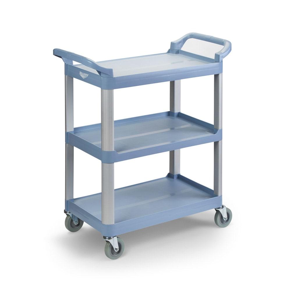 Vollrath 97005 3 Level Polymer Utility Cart w/ 300 lb Capacity, Raised Ledges