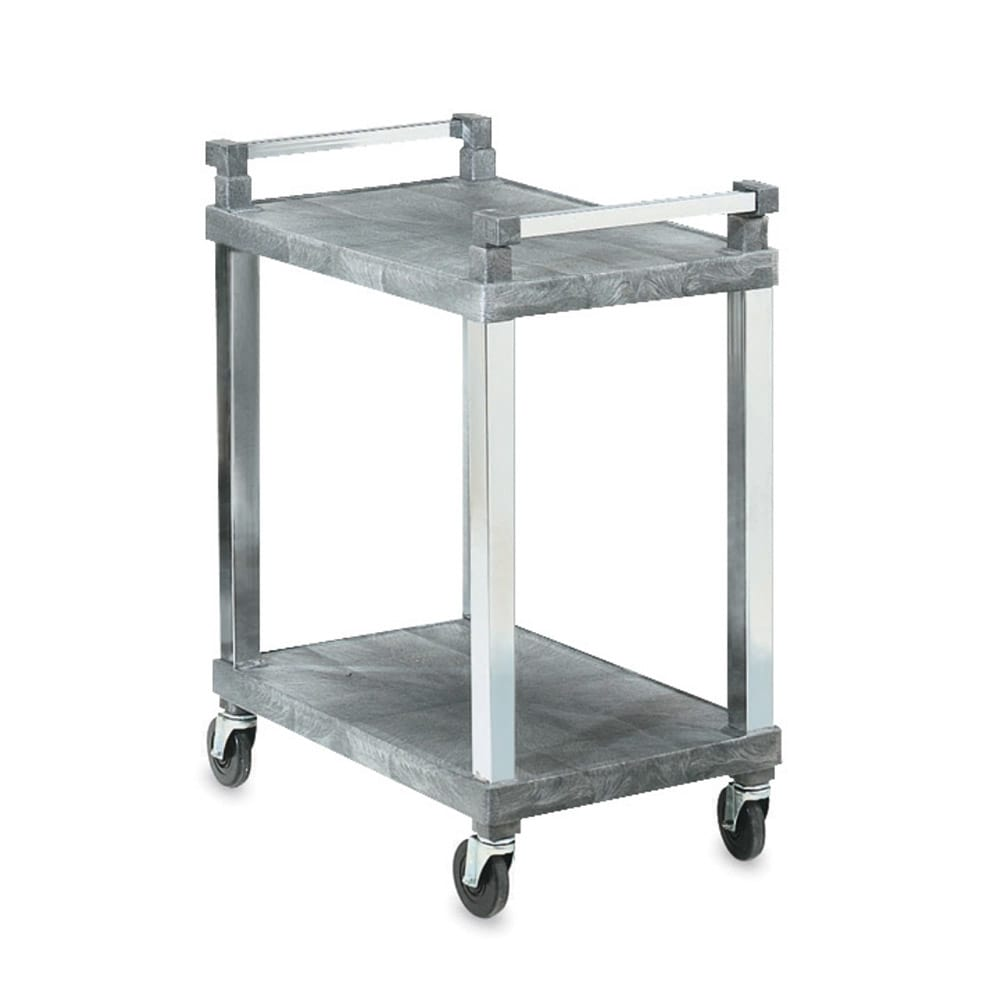 Vollrath 97102 3 Level Polymer Utility Cart w/ 300 lb Capacity, Flat Ledges