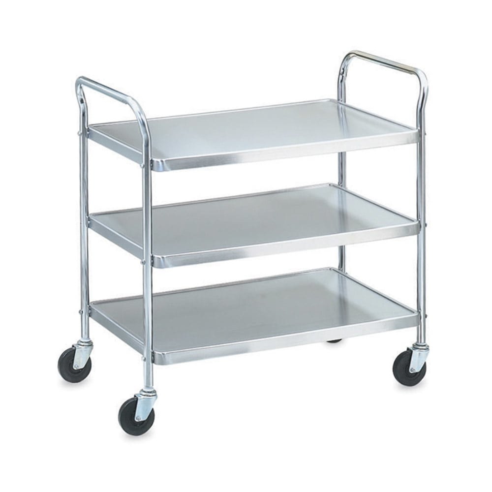 Vollrath 97105 3 Level Stainless Utility Cart w/ 400 lb Capacity, Raised Ledges