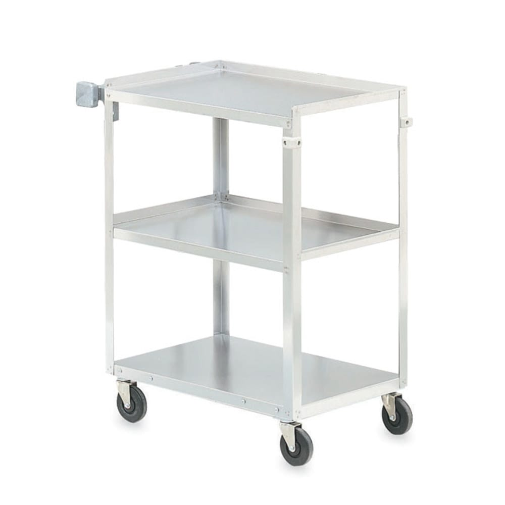 Vollrath 97125 3-Level Stainless Utility Cart w/ 400-lb Capacity, Raised Ledges