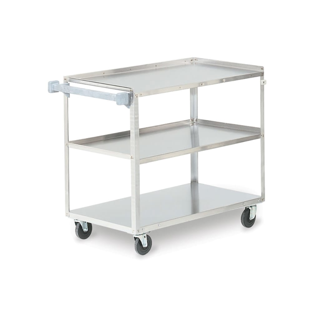 Vollrath 97140 3 Level Stainless Utility Cart w/ 500 lb Capacity, Raised Ledges