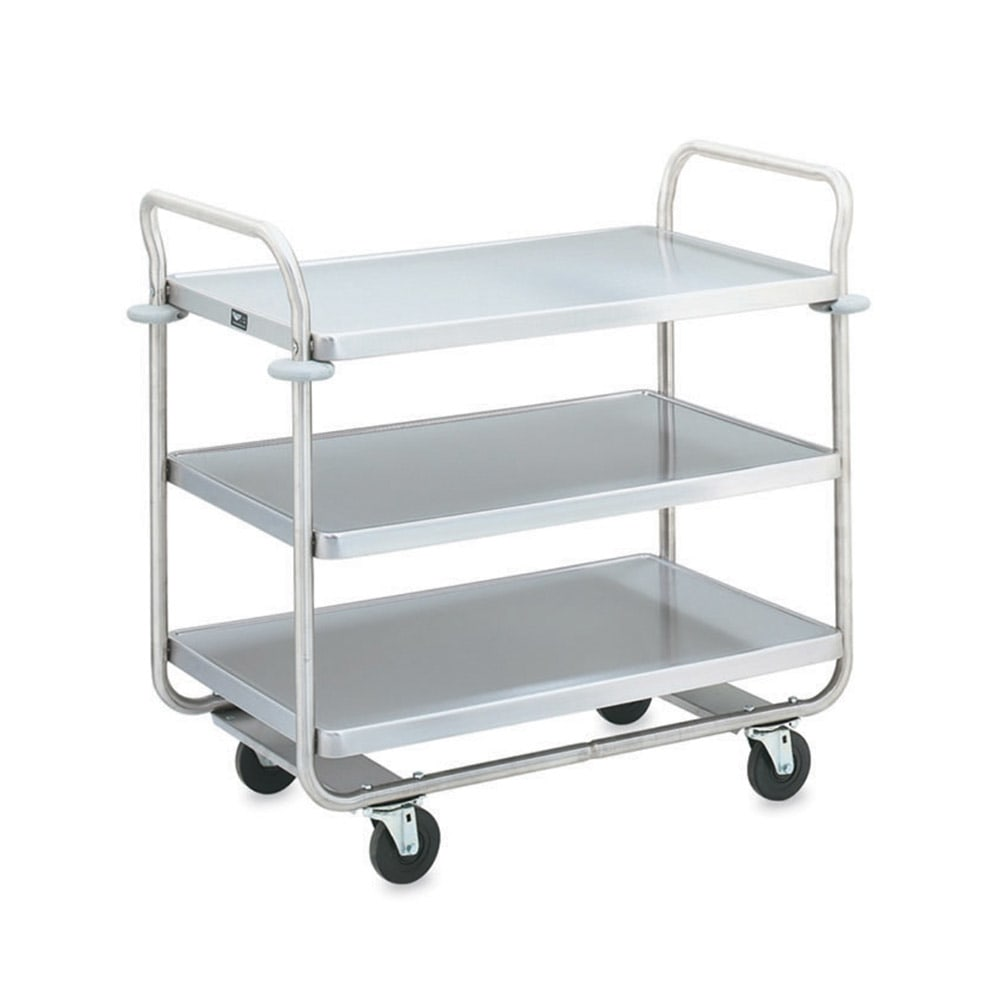 Vollrath 97168 3 Level Stainless Utility Cart w/ 500 lb Capacity, Raised Ledges