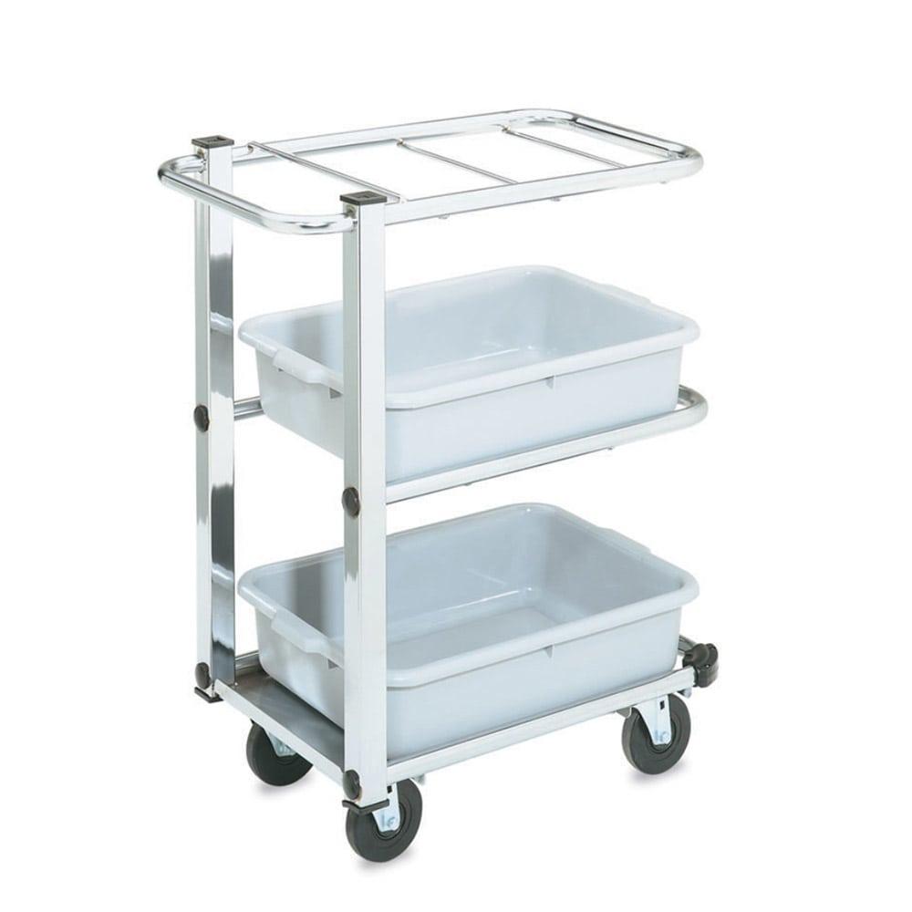 Vollrath 97186 3 Shelf Utility Cart - Single Cantilever, Chrome