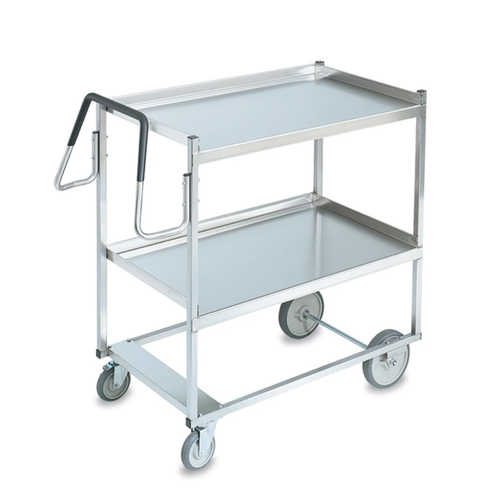 Vollrath 97200 2-Level Stainless Utility Cart w/ 650-lb Capacity, Raised Ledges