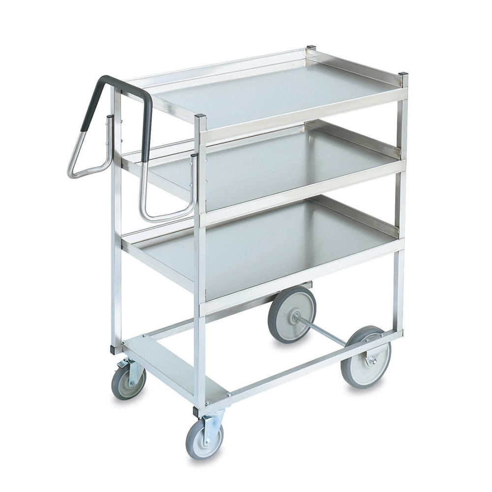 Vollrath 97203 3-Level Stainless Utility Cart w/ 900-lb Capacity, Raised Ledges