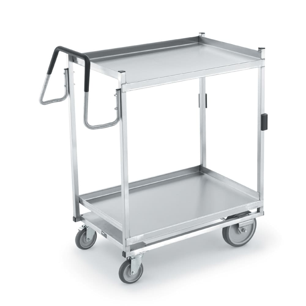 Vollrath 97207 2 Level Stainless Utility Cart w/ 900 lb Capacity, Raised Ledges