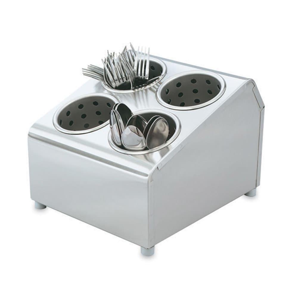 """Vollrath 97240 Cutlery Dispenser - 4 Cylinder, 10-1/8x11-1/2x8-1/2"""" Stainless"""
