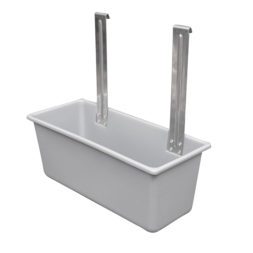 Vollrath 97280 Silver Bin for Bussing Carts, Plastic, Gray