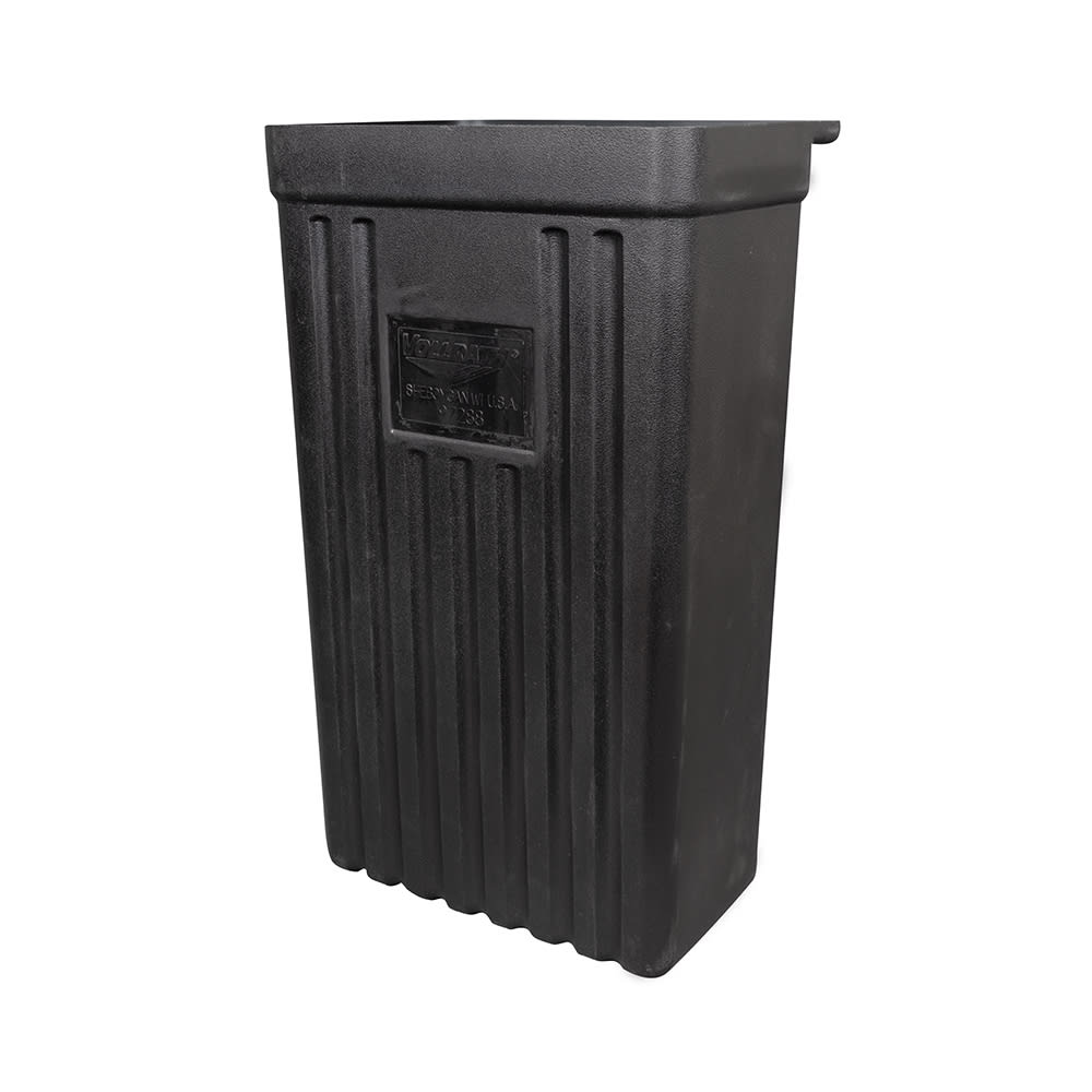 Vollrath 9728810 Refuse Bin for Standard Truck & Tubular Carts, Black