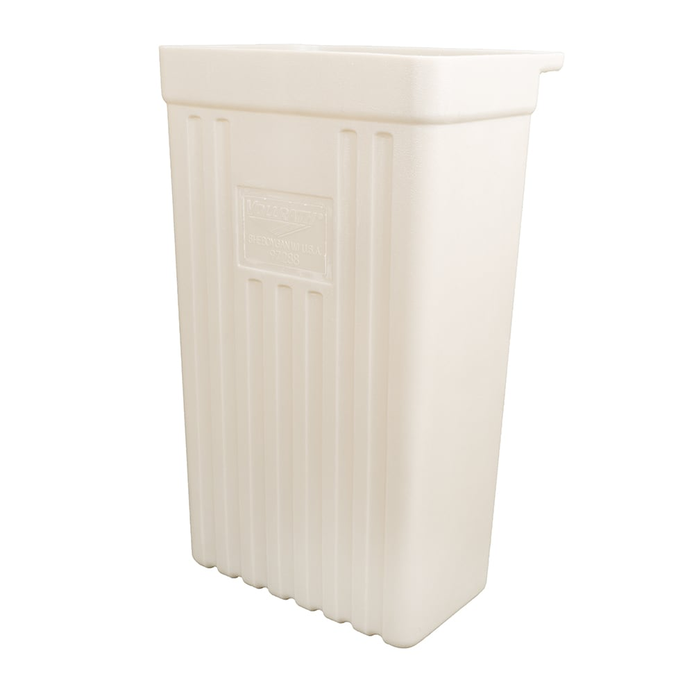 Vollrath 9728820 Refuse Bin for Standard Truck & Tubular Carts, Gray