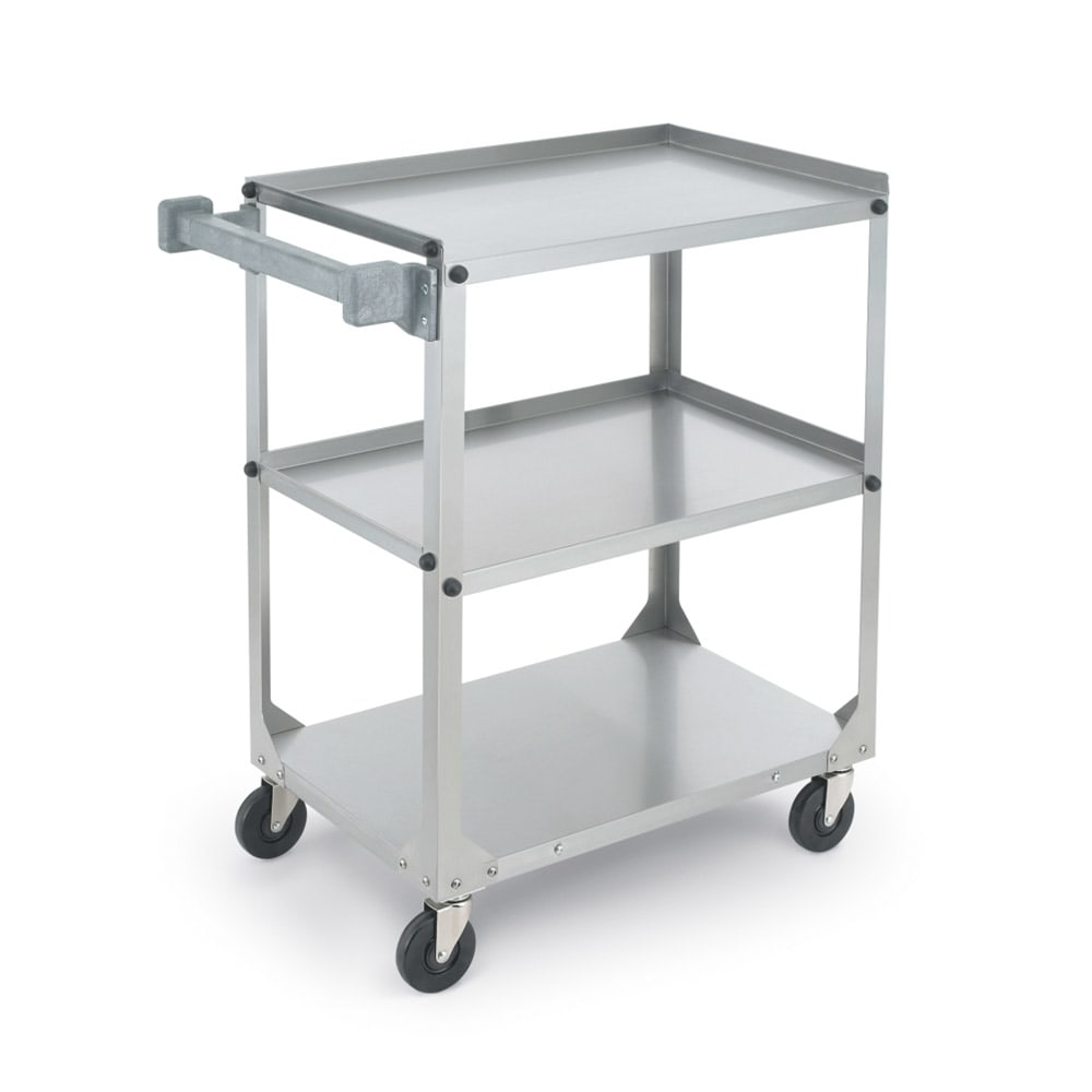 Vollrath 97320 3 Level Stainless Utility Cart w/ 300 lb Capacity, Raised Ledges