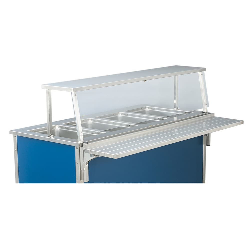 """Vollrath 9861006 88"""" Single-Deck Cafeteria Breath Guard"""