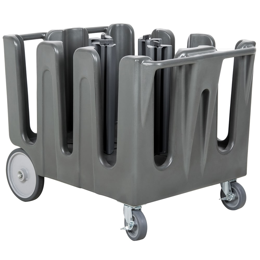 Vollrath ADC-4 Dish Caddy with Cover - 4 Posts, 5 Stacks, Adjustable, Gray
