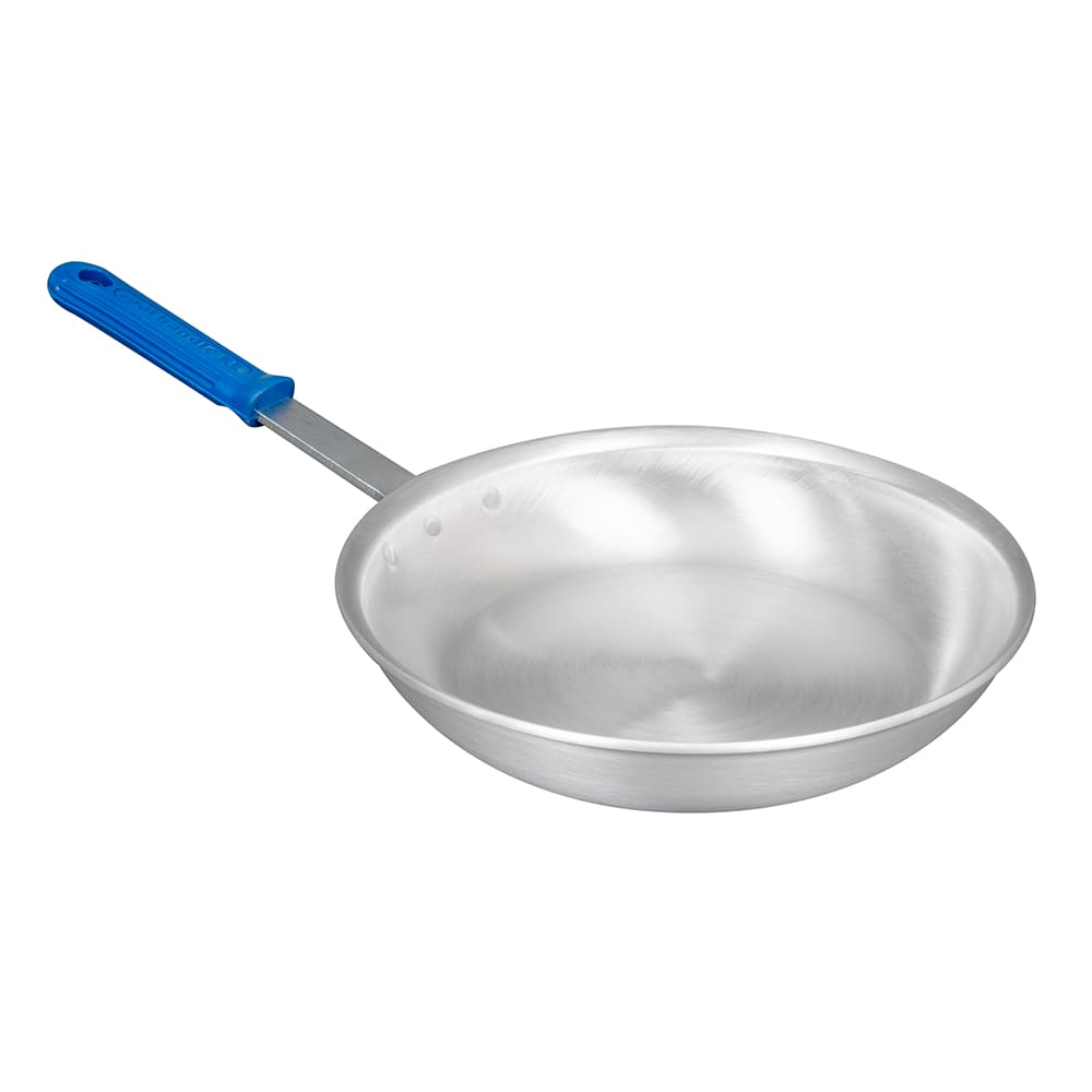 """Vollrath E4010 10"""" Aluminum Frying Pan w/ Solid Silicone Handle"""