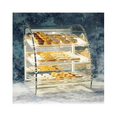 """Vollrath EBC-P Lighted European Bakery Case Package - (3)18x26"""" Clear Trays"""