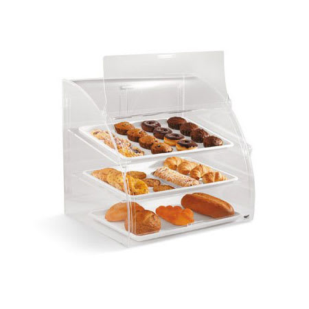 "Vollrath ELBC2 Curved-Front Pastry Display Case -  (3)18x26"" Trays"