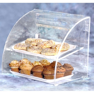 "Vollrath ESBC-1 Curved-Front Pastry Display Case -  (2)10x14"" Trays"