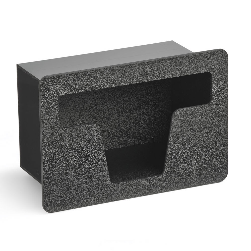 "Vollrath FMS-6 Flush-Mount Straw Holder - 10.56"" x 4.81"" x 7.31"", Plastic, Black"