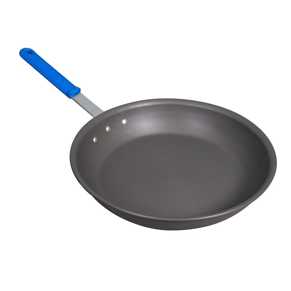 "Vollrath H4014 14"" Aluminum Frying Pan w/ Solid Silicone Handle"