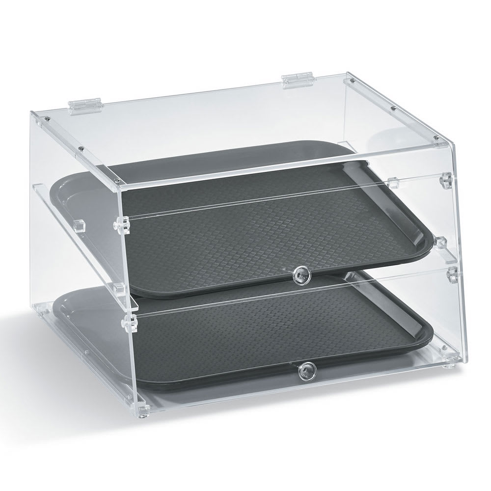 "Vollrath KDC1418-2-06 Slant-Front Countertop Pastry Display Case - (2)14x18"" Trays"