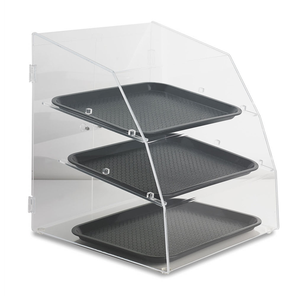 """Vollrath LBC1418-3R-06 Curved-Front Pastry Display Case -  (3)14x18"""" Trays"""