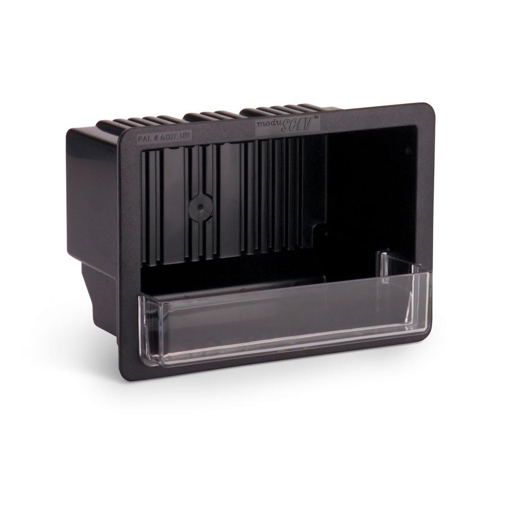 """Vollrath MRBM-1 In-Counter Receptor Box - 7-1/2x10-3/4x6-3/8"""" Black"""