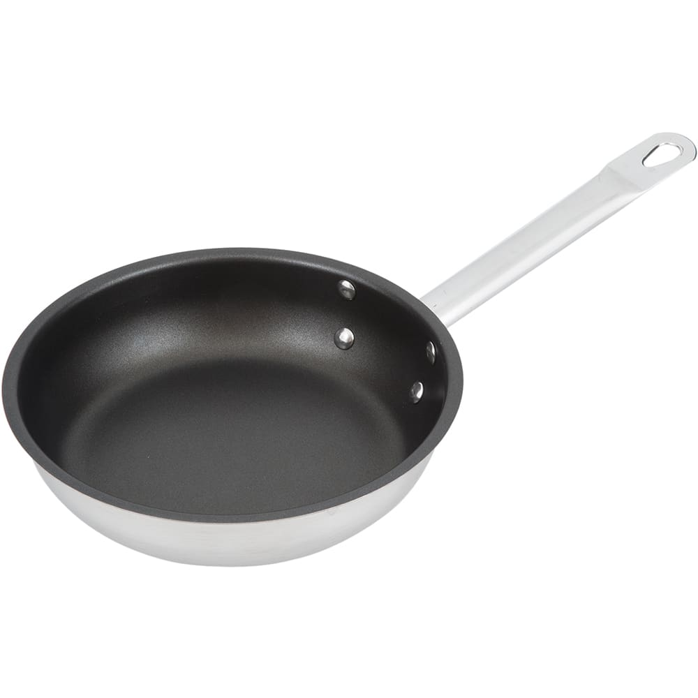 """Vollrath N3408 8"""" Non-Stick Steel Frying Pan w/ Hollow Metal Handle"""