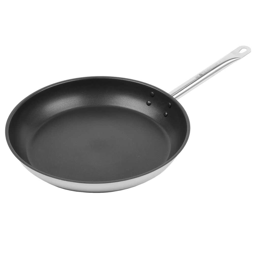 "Vollrath N3812 12.5"" Non-Stick Steel Frying Pan w/ Hollow Metal Handle"