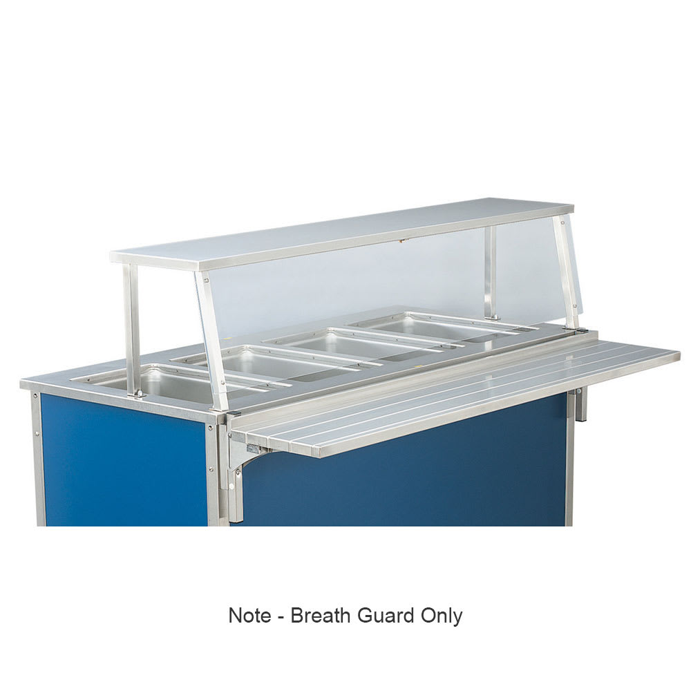 "Vollrath N9861006 Single-Deck Classic Cafeteria Breath Guard for 88"" ADA Unit"