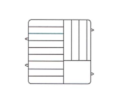 Vollrath PM1211-4 Dishwasher Rack - 12 Plate Capacity, 4 Extenders, Royal Blue