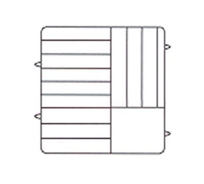 Vollrath PM1211-5 Dishwasher Rack - 12 Plate Capacity, 5 Extenders, Beige