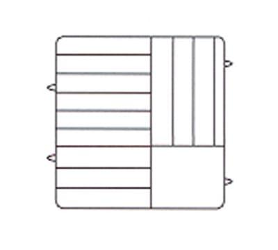 Vollrath PM1211-5-21 Dishwasher Rack - 12-Plate Capacity, 5-Extenders, Burgundy