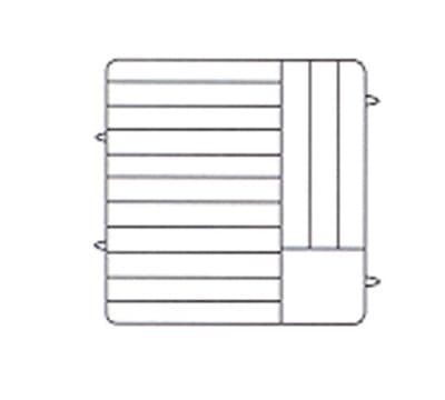 Vollrath PM1412-6 Dishwasher Rack - 14 Plate Capacity, 6 Extenders, Beige