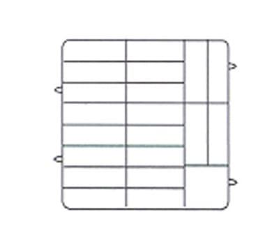 Vollrath PM2006-3 Dishwasher Rack - 20-Plate Capacity, 3-Extenders, Beige