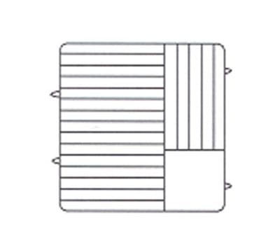 Vollrath PM2011-5 Dishwasher Rack - 20 Plate Capacity, 5 Extenders, Beige