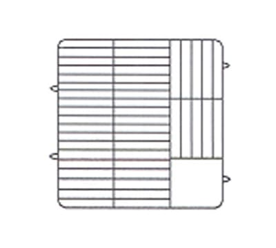 Vollrath PM3807-2 Dishwasher Rack - 38 Plate Capacity, 2 Extenders, Beige